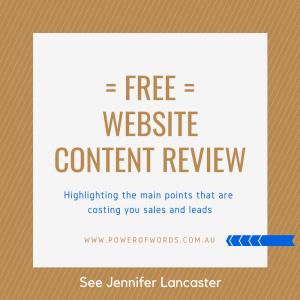 website content review
