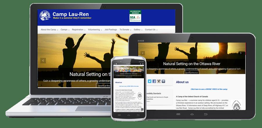 Camp Lau-Ren PowerPages Stittsville Web Design Kanata Ottawa website