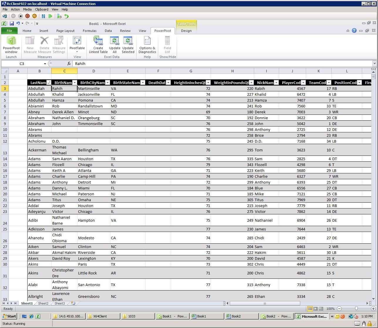 PowerPivot Data Cleaning: Three Options (with a football