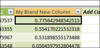 New Calc Column in PowerPivot Window