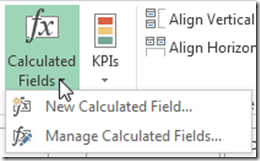 Calculated Field Options