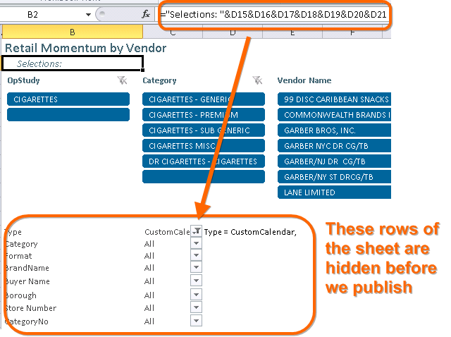 Display User's Slicer Selections: A Macro to Automatically