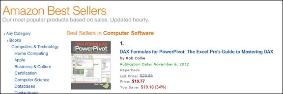 Best Selling PowerPivot Book