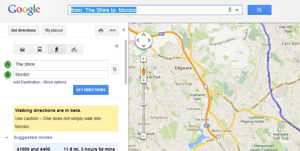One does not simply walk into Mordor (Or How I spent my summer ... Directions From The Shire To Mordor Google Maps on