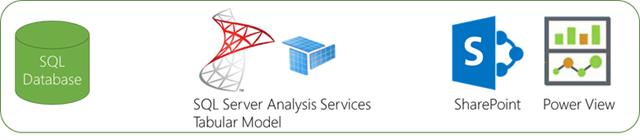 Organizational BI SQL Server Analysis Services Tabular Model SharePoint Power View