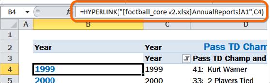 HYPERLINK Function Used to Produce Nav Links