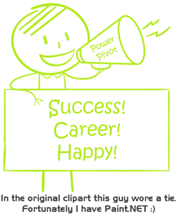 Power Pivot - Success, Career, and Happy