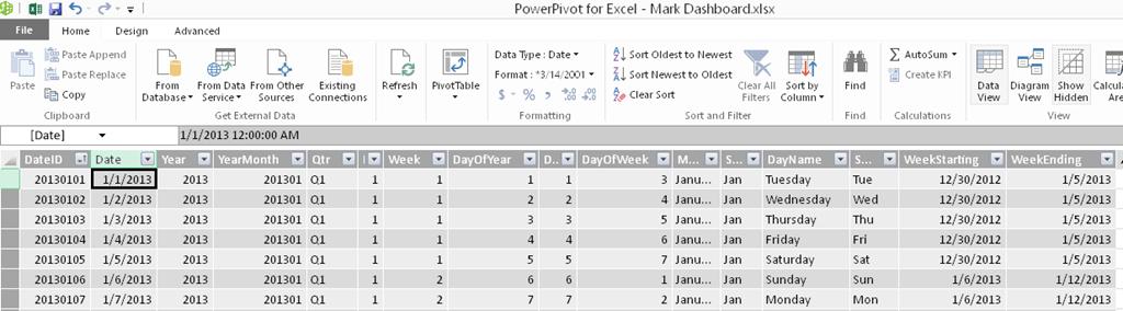 SQL Date Tables in Power Pivot - PowerPivotPro