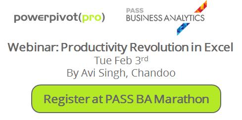 SQL PASS Business Analytics BA Marathon