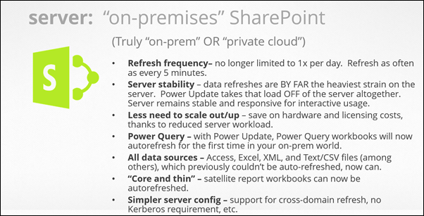 Power Update: Refresh any Power Pivot / Power BI Workbook, from Any Data Souce, and Publish to Any Location (SharePoint on Premises)