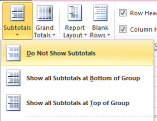 Turn Off Subtotals In Your Flattened Pivot