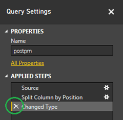 Remove the Changed Type step