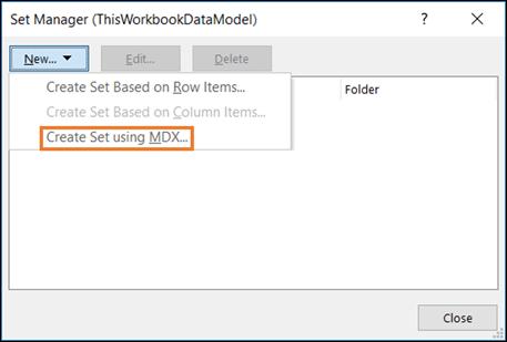 Power Pivot Pro Excel Table Set MDX Query