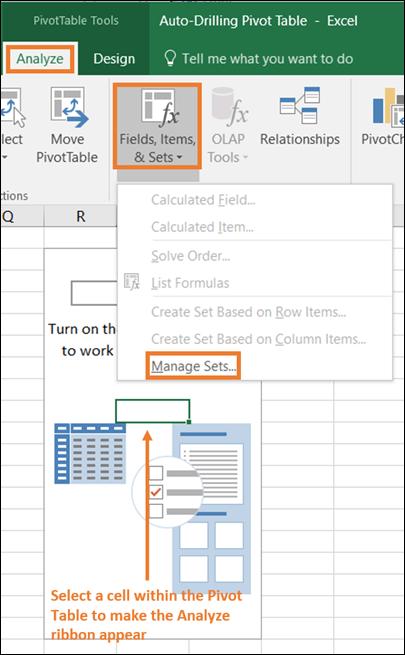 Power Pivot Pro Excel Pivot Table MDX Set Manager