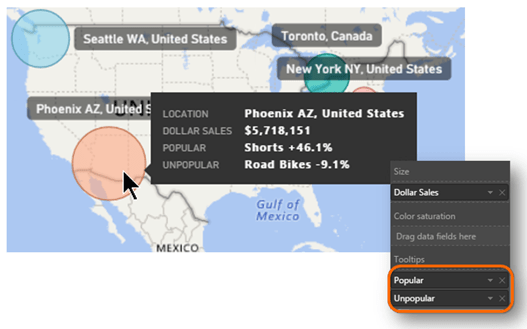 Text Measure Tooltips in Power BI Map Visualization!