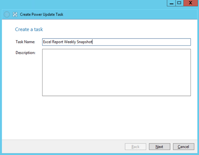 Power Update Name Version Control Task