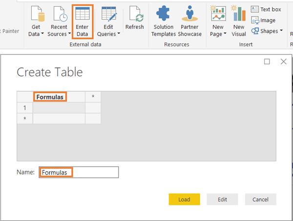 PowerBI.com Enter Data Step