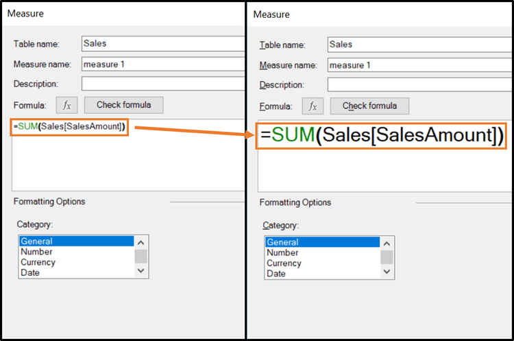 Excel DAX Editor Popup Window Text Resize