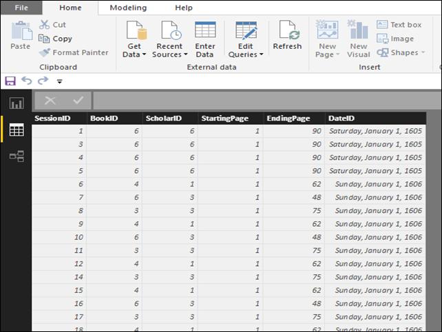 "Power BI - Bookmarks - ""Clean"" Data Model"