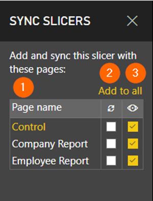 Sync slicers - control
