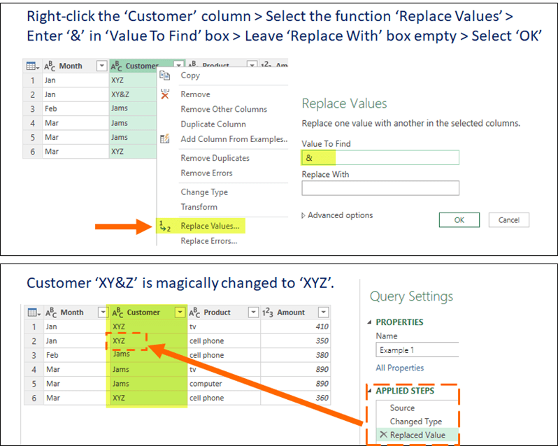 Replace Values