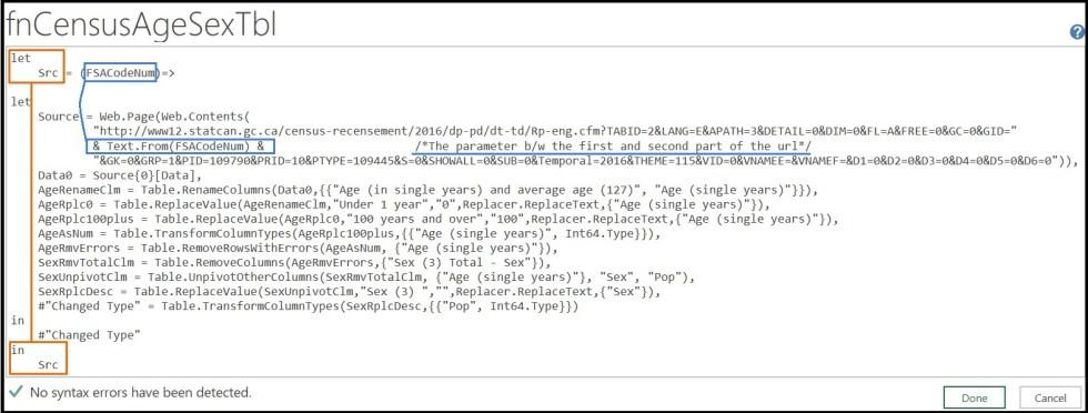 parameter FSACodeNum