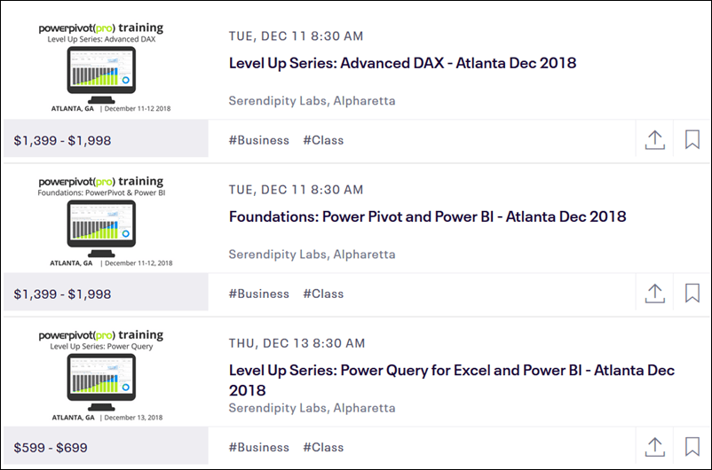 Join us in Atlanta for Power Pivot, Power BI, and Power Query