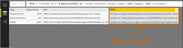 Dynamically Embedding Web Pages in Power BI - PowerPivotPro