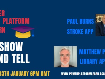 LIVE CLASS WEDS 13 6PM GMT 'POWER APPS SHOW AND TELL' BOOK A SPOT