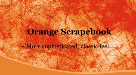 Orange Scrape Grunge PowerPoint Background 1 Orange PowerPoint Backgrounds