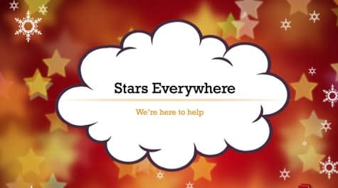 Stars Snowflakes Celebration PowerPoint Background 1 Orange PowerPoint Backgrounds