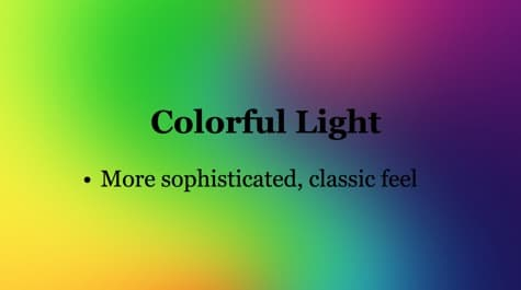 Warm Cold Colorful Light PowerPoint Background 1 Colorful PowerPoint Backgrounds