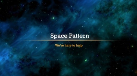 Abstract Cosmos Space PowerPoint Background 1 Black PowerPoint Backgrounds