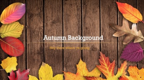 Autumn Leaves PowerPoint Background 1 Brown PowerPoint Backgrounds