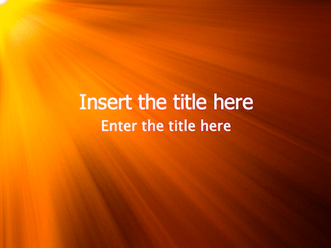 Shine PowerPoint Background Orange PowerPoint Backgrounds