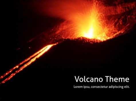 Black powerpoint backgrounds free powerpoint backgrounds if you have a presentation about volcanos or lava eruption use this wonderful volcano template for powerpoint toneelgroepblik Image collections
