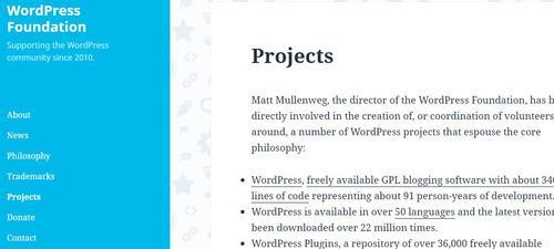 wordpress foundation screenshot