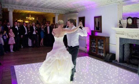 White Starlit Dance Floor Hire Dartford