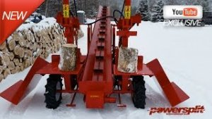 %name Double Vertical Wood Splitter With Center Conveyor