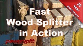 Fast Wood Splitter in Action