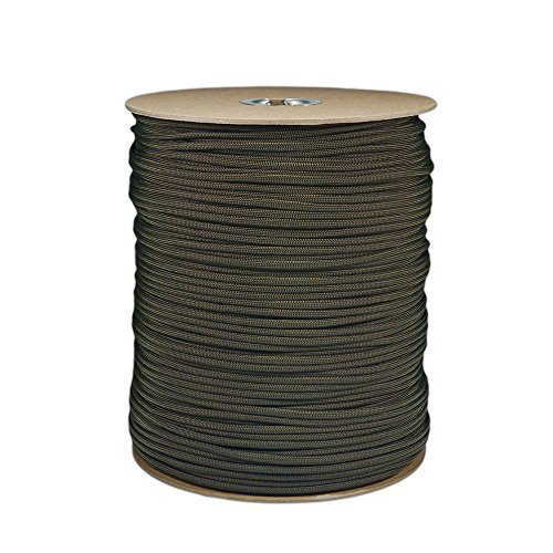 1000-Foot-OD-Olive-Drab-Green-Parachute-Cord-Paracord-Type-III-Military-Specification-550-0