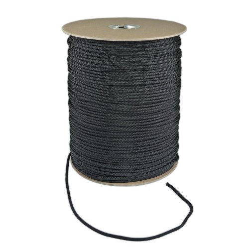 1000-Foot-Spool-Black-Parachute-Cord-7-Strand-Core-550-Cord-0-0