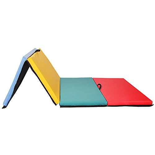 4x8x2-Thick-Folding-Panel-Gymnastics-Mat-Gym-Fitness-Exercise-Multicolor-0