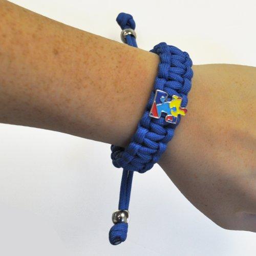 Autism-Awareness-Paracord-Adjustable-Survival-Bracelet-with-Puzzle-Piece-Charm-0-1