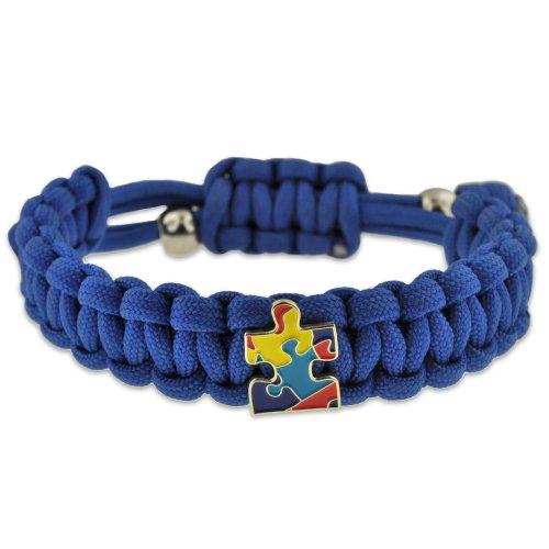 Autism-Awareness-Paracord-Adjustable-Survival-Bracelet-with-Puzzle-Piece-Charm-0