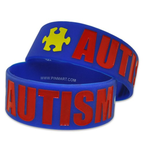 Autism-Awareness-Puzzle-Piece-Wide-Rubber-Silicone-Bracelet-0