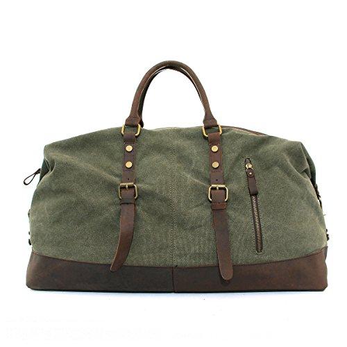 CLELO-B305-Casual-Canvas-Weekender-Gym-Bag-Travel-Duffle-Bag-0