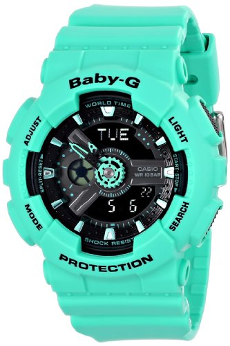 Casio-Womens-BA-111-3ACR-Baby-G-Analog-Digital-Display-Quartz-Green-Watch-0