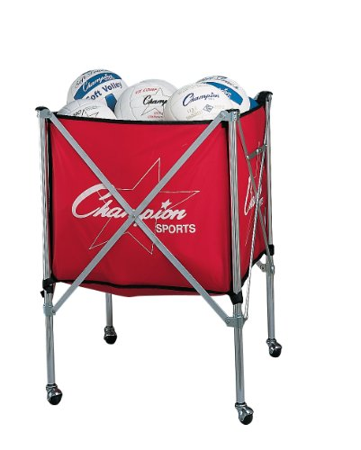Champion-Sports-Folding-Volleyball-Storage-Cart-0