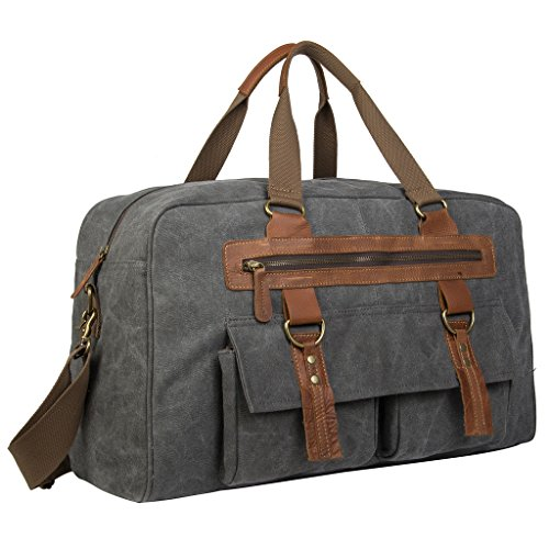Coreal-Large-Vintage-Canvas-leather-Travel-Duffle-Bag-0